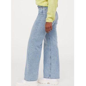 Seemham | Highrise Light Wash Wide Leg Jeans